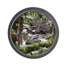 Rainforest Stream - Wall Clock
