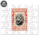 North Borneo Orangutan Postage Stamp 1931 Puzzle
