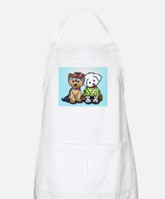 Yorkie and maltese Apron