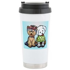 Yorkie and maltese Travel Coffee Mug