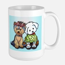 Yorkie and maltese Large Mug