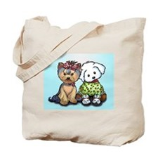Yorkie and maltese Tote Bag