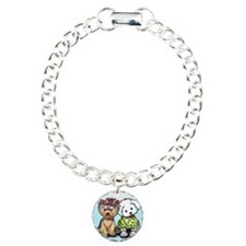 Yorkie and maltese Charm Bracelet, One Charm