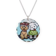 Yorkie and maltese Necklace