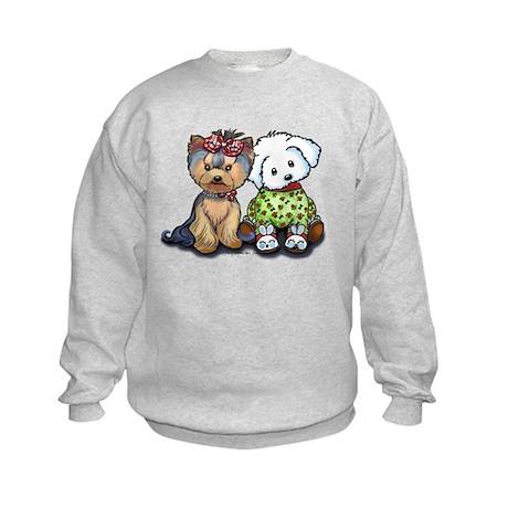 Yorkie and Maltese Kids Sweatshirt