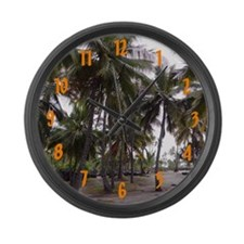 Place of Refuge Palms - Large Wall Clock