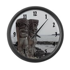 Place of Refuge Tikis - Large Wall Clock