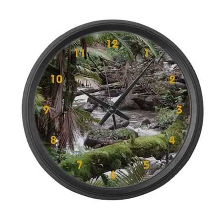 Rainforest Stream - Large Wall Clock