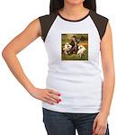 BOY & RETRIEVERS Women's Cap Sleeve T-Shirt