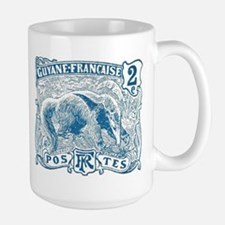 French Guiana Great Anteater Stamp 1905 Large Mug