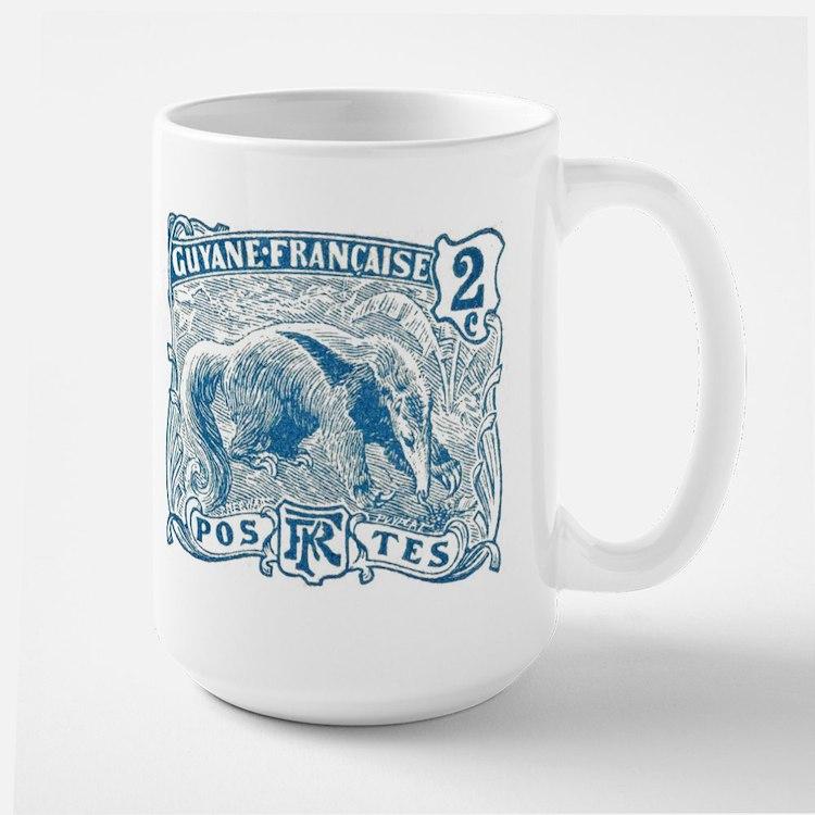 French Guiana Great Anteater Stamp 1905 Mug