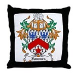 Fownes Coat of Arms Throw Pillow