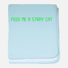 """American Psycho """"Feed Me a Stray Cat"""" baby blanket"""