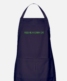 "American Psycho ""Feed Me a Stray Cat"" Apron (dark)"