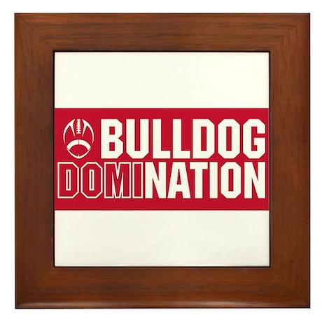 Bulldog Nation Framed Tile
