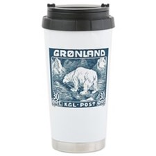 Greenland Polar Bear Postage Stamp 1938 Travel Mug