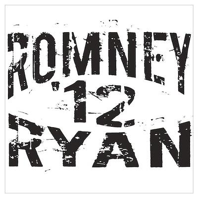 Romney Ryan 12 Wall Art Poster