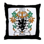 Fonte Coat of Arms Throw Pillow