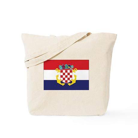 Croatia Naval Ensign Tote Bag