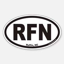 Ruffin North Carolina RFN Euro Oval Decal