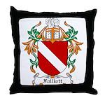 Folliott Coat of Arms Throw Pillow