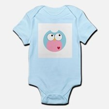 Blue and Pink Owl Infant Bodysuit