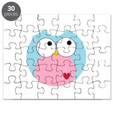 Blue and Pink Owl Puzzle