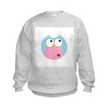 Blue and Pink Owl Sweatshirt