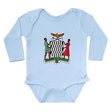 Zambia Coat Of Arms Long Sleeve Infant Bodysuit