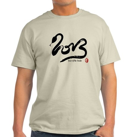 Year of the Snake 2013 Calligraphy Light T-Shirt
