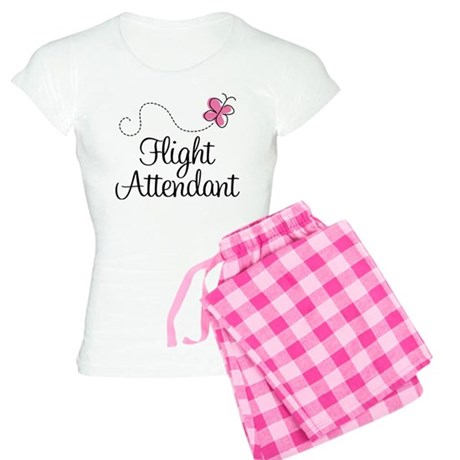 Cute Flight Attendant Women's Light Pajamas