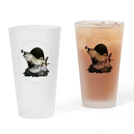 Feeding tiger musky Pint Glass