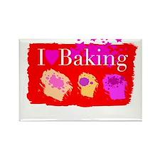 I Love Baking Rectangle Magnet