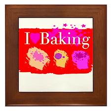 I Love Baking Framed Tile