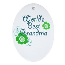 Worlds Best Grandma Ornament (Oval)