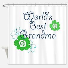 Worlds Best Grandma Shower Curtain