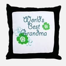 Worlds Best Grandma Throw Pillow