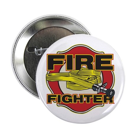 "Firefighter Hose and Shield 2.25"" Button (10 pack)"