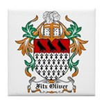 Fitz Oliver Coat of Arms Tile Coaster