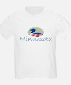 Proud Loon-Minnesota: Kids T-Shirt
