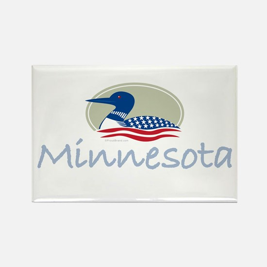Proud Loon-Minnesota: Rectangle Magnet (100 pack)