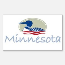 Proud Loon-Minnesota: Rectangle Decal