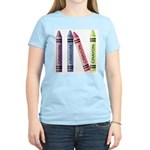 Four Crayons Women's Light Colored T-Shirt