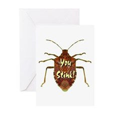 You Stink Stink Bug Greeting Card