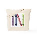Four Crayons Tote Bag