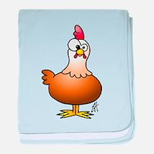 Cheerful Chicken - Hen baby blanket