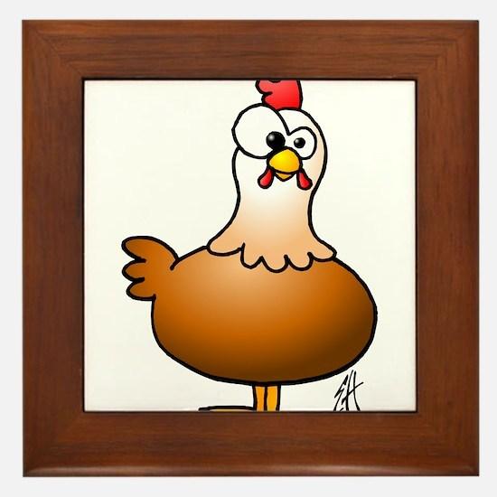 Cheerful Chicken - Hen Framed Tile