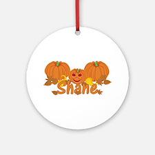 Halloween Pumpkin Shane Ornament (Round)