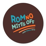 RomNO Mitts Off Round Car Magnet