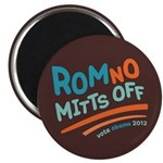 "RomNO Mitts Off 2.25"" Magnet (10 pack)"